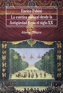 Estética Musical - Antigüedad Hasta S.xx, Fubini, Alianza