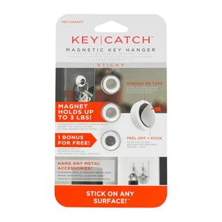 Keycatch Sticky   Magnetic Key Rack, Adhesive, 3 P Ks190-3pk