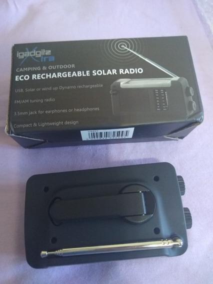 Rádio Recarregável Energia Solar