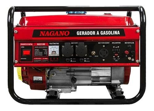 Gerador À Gasolina 3kva Mono Part. Manual Bivolt - Nagano