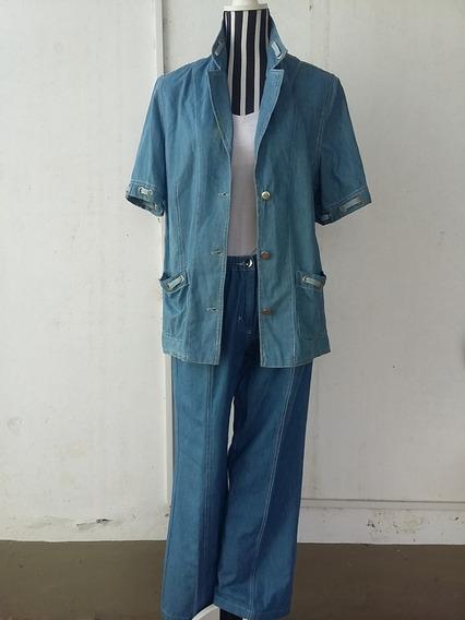 Conjunto De Jeans, Chaqueta Y Pantalón, Talle: 50