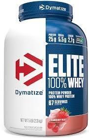 Elite Whey 5lbs 2.27kg Dymatize  Morango Com Nota Fiscal