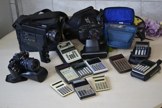 Câmera Nikon Fg Japonesa + Case Couro + Bolsa Fotografia