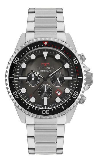 Relógio Masculino Technos Skymaster Js25cb/1p 48mm Aço Prata