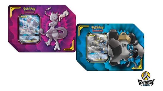 Lata Mewtwo & Lucário Parceria Poderosa - Pokémon