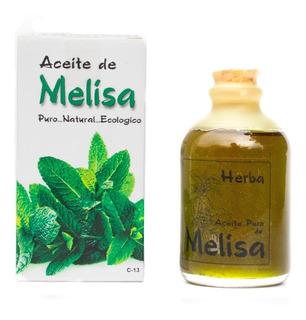 Aceite De Melisa Orgánico Sin Aditivos..puro.60 Ml.