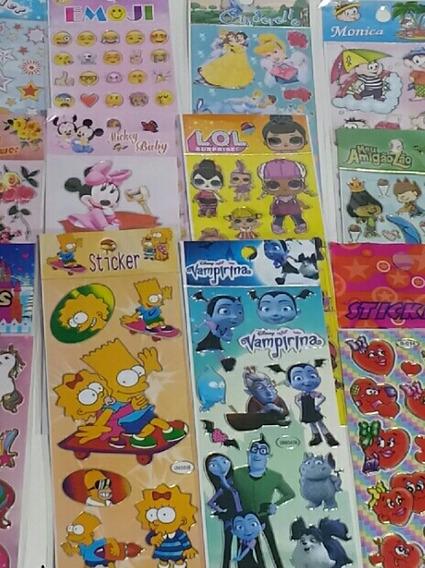 Adesivos Infantis Kit Revenda Com 2000 Cartelas