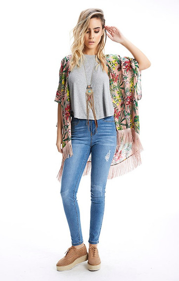 Jean Mujer Elastizado Pantalón Largo Roto Chupin Rimmel