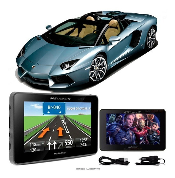 Gps Automotivo Aventador Tela 4.3 Voz Tv Digital Fm Oferta