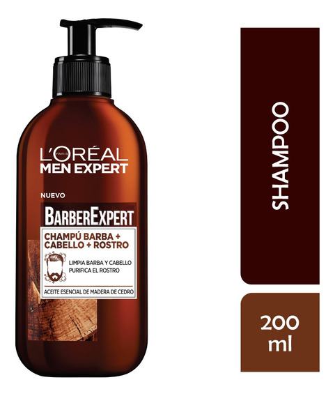 Shampoo Barba Rostro Pelo Men Expert Loreal 200ml