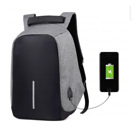 Mochila Antirrobo Xl Smart Bag Notebook Carga Usb Colores