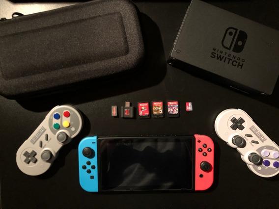 Nintendo Switch Desbloqueado + 3 Jogos - Melhor Kit Do Ml !