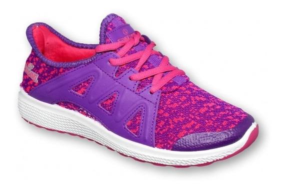 Tenis Para Dama Marca Spalding Textil Morado 6493