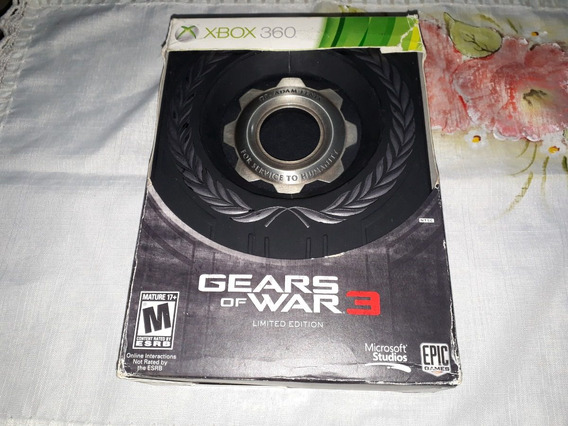 Gears Of Wars 3 Limited Edition Original P/ Xbox360