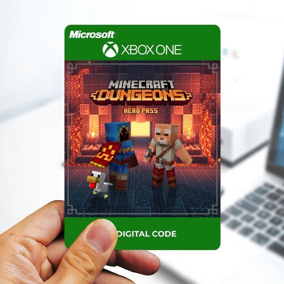 Minecraft Dungeons Hero Pass - Código Original - Xbox One
