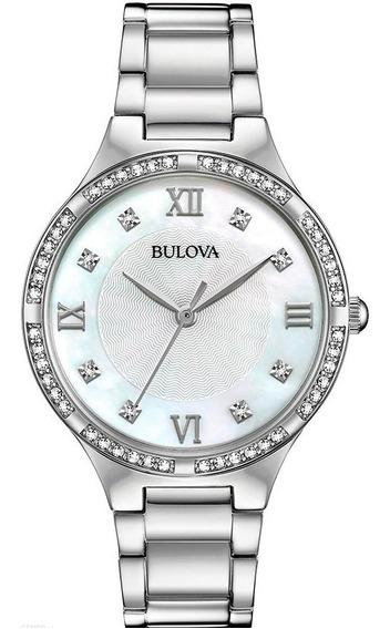 Reloj Bulova Crystal Original Para Dama Time Square