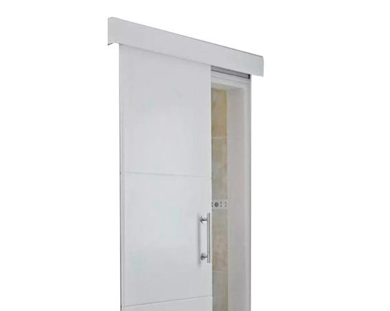 Kit Porta Correr De Embutir Roldana Côncava 4rodas Sem Porta