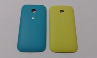 Kit 2 Tampas Traseira Coloridas Motorola Moto E Original