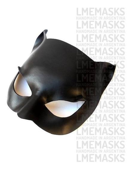 Máscara Gatúbela Catwoman De Cuero Batman Antifaz Halloween