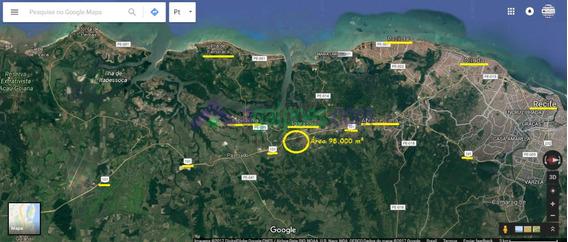 Área 98.000 M² (9,8 Ha) Às Margens Da Rodovia Br 101 Em Igarassu - Pe - 1369