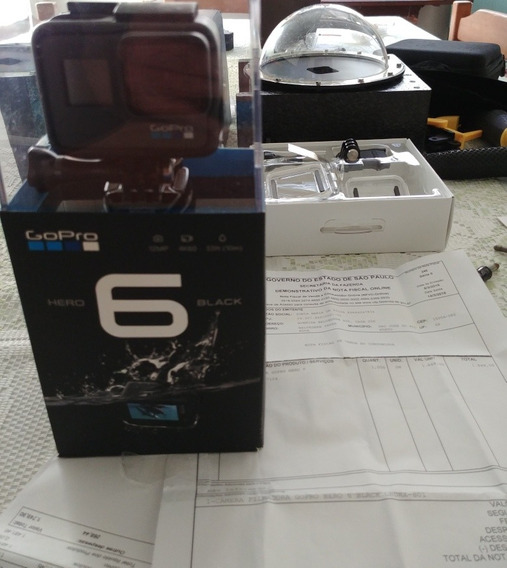 Gopro Hero 6 + Dome + Caixa Estanque + Cartão E Acessórios
