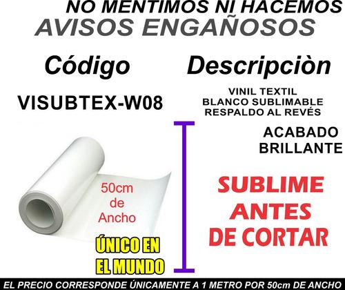 Imagen 1 de 6 de Vinil Textil Sublimable Blanco Reves P Parche Moritzu