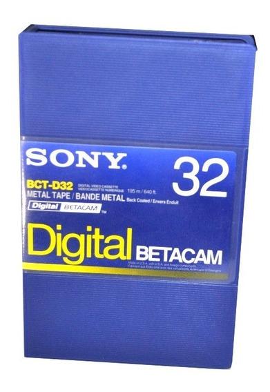 Sony Fita Video Betacam Digital Bct-d32 Nova Lacrada Kit 10