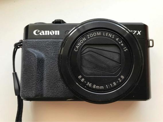 Usada - Câmera Digital Canon Powershot G7 Mark Ii - Portatil