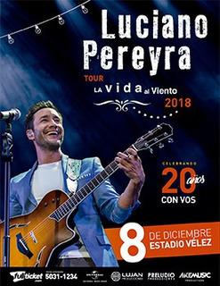 2 Entradas Luciano Pereyra Plateas