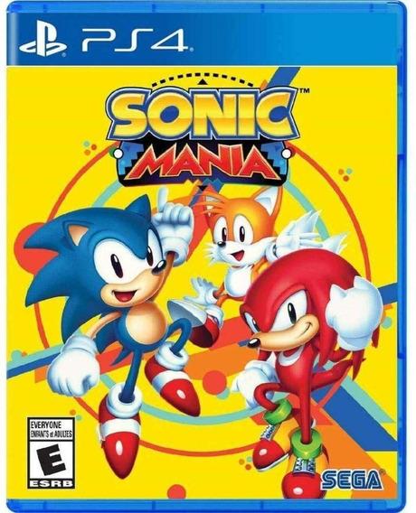 Sonic Mania - Ps4 - Midia Fisica!
