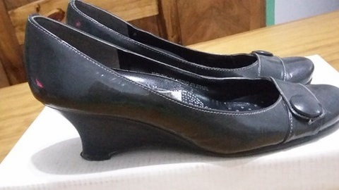 Zapatos Nº 37 Hush Puppies Color Gris, Nuevos!
