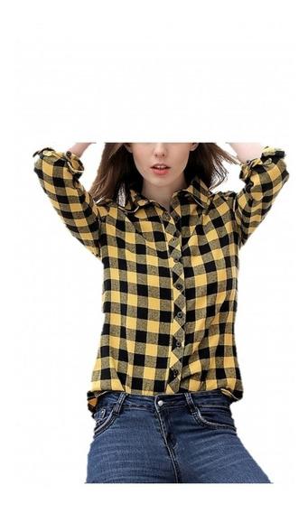 Camisas Entalladas Cuadros Mujer- Escocesas Envío Gratis