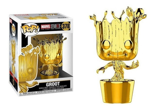 Funko Pop Groot Dorado Marvel 378 Edicion Limitada