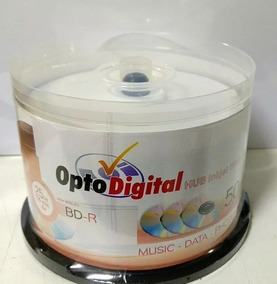 50 Midias Blu Ray Optodigital 6x Printable 25gb
