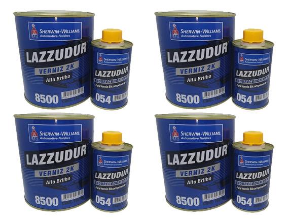 Verniz Automotivo Lazzuril 8500 C/ Catalisador 900ml 4kits