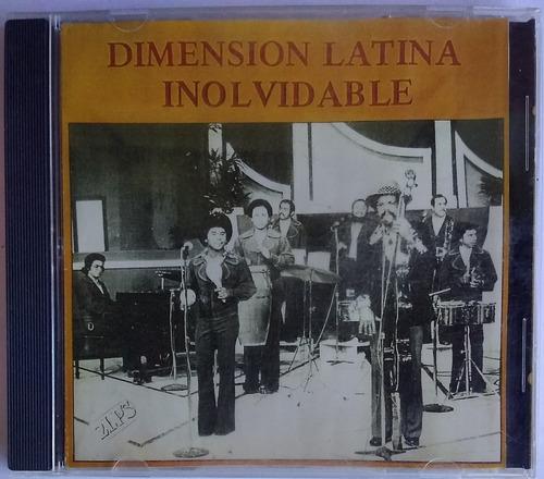 Dimensión Latina. Inolvidable. Cd Original, Usado