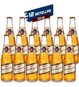 Cerveza Importada Miller High Life 355 Ml - 12 Pack