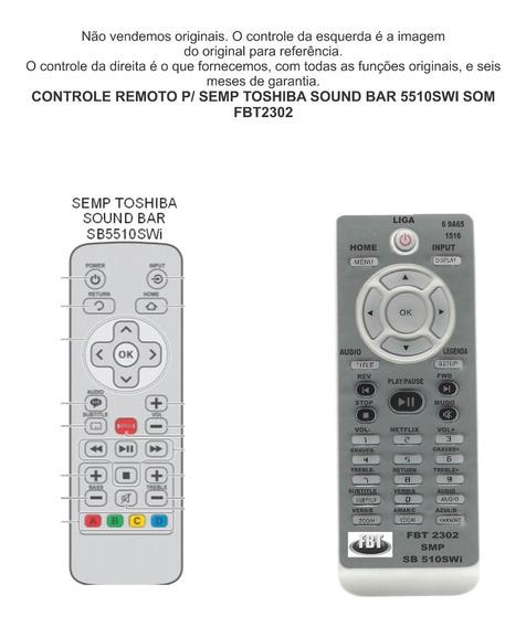 Controle Remoto Semp Toshiba Sound Bar 5510swi Som Fbt2302