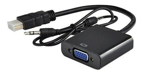 Cable Adaptador Conversor Hdmi A Vga Con Audio 1080p