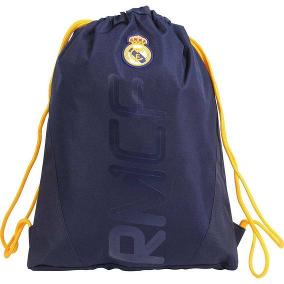Bolsa Saco Com Alças Do Real Madrid Gymbag Marinho 49216 Dmw