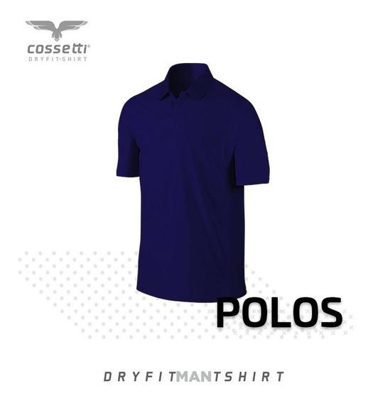 Playera Tipo Polo Cossetti Manga Corta Dry Fit Mujer