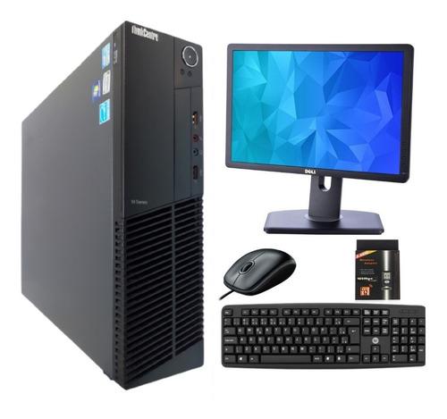 Imagem 1 de 6 de Computador Pc Completo Intel I5 8gb Ssd240 + Monitor + Wi-fi