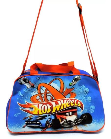Bolsa Infantil Ou Sacola Viagem Criança Hot Wheels Grande F5