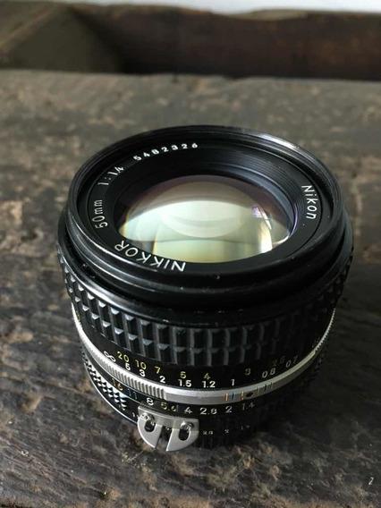 Objetiva Nikon 50mm F:1.4 Foco Manual - Excelente Estado
