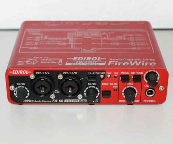 Edirol Roland Interface Firewire Fa66 - Zerada - Trocas