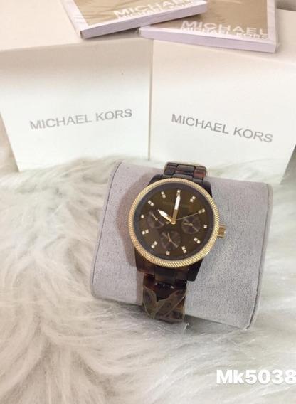 Relógio Kl989 Michael Kors Mk-5038 Marron Promocional