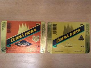 Etiquetas Cerveza Rep. Checa. Czerna Hora Lote X 2