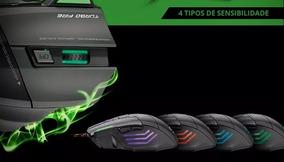 Mouse Gamer Warrior Metal Fire 7 Botões 3200dpi Mo207 + Pad