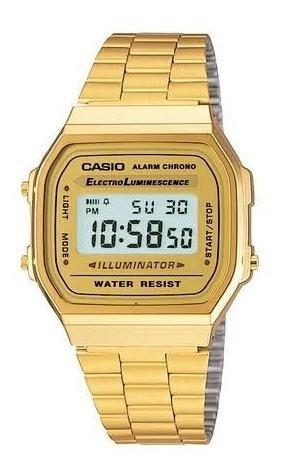 Relógio Casio Vintage Unissex Dourado Rosê E Dourad Digital