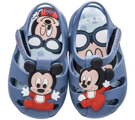 Sandália Grendene Kids Disney Mickey Dreams Azul Nº 13 Ao 16